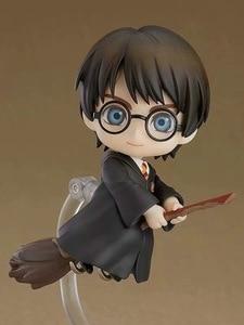 Image 2 - QPosket Nette Große augen Harri Potter Vinyl Figur Modell Spielzeug 10cm anime figur Fertigwaren Modell Manuelle Gesicht ändern
