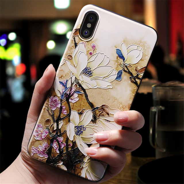3D Emboss Flower Cover For Xiaomi Redmi Note 8 7 6 9 Pro 9S 5 7A 8A Mi A3 8 9 SE Note 10 Lite A1 5X A2 CC9 CC9e 9T Pro TPU Case 3