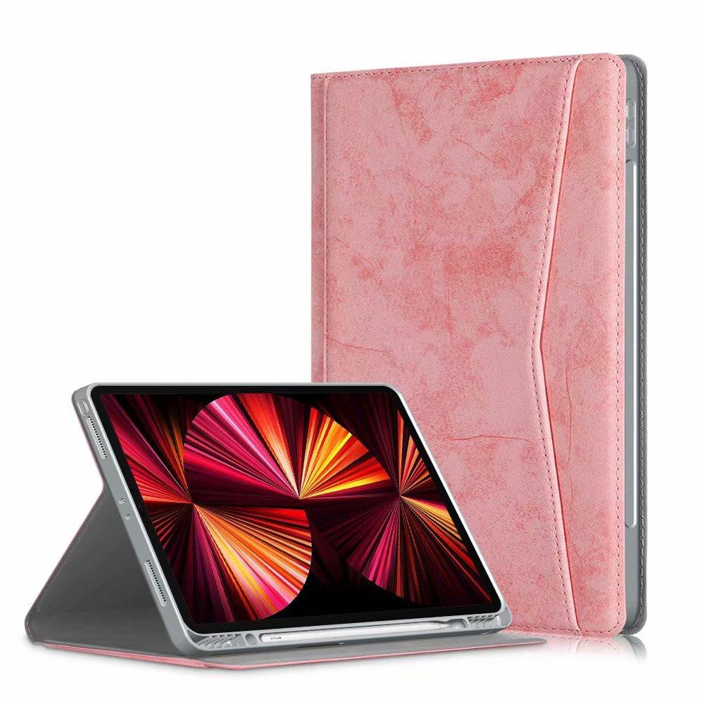 pink Pink Portfolio Case for iPad Pro 11 2021 2020 2018 Multi Angle Viewing Premium Leather Auto Sleep