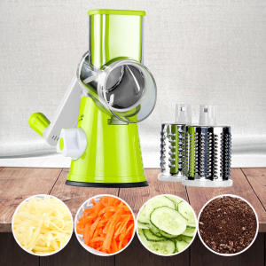 Hot Sale Round Drum Mandoline Rotary Slicer Manual Cheese Grater Vegetable Vegetable Slicer Veggie Potato Shredder Nut Chopper