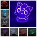 3D ночной светильник, игрушка в виде покемона, лампа-фигурка, ясень, Кетчум, джигбуфф, храп, Mimikyu Arcanine, Игрушечная модель, детские подарки, аним...