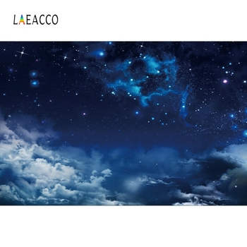 Laeacco Night Starry Sky Clouds Photography Backdrops Baby Shower Photo Backgrounds Newborn Photophone Child Portrait Photozone laeacco baby shower photophone starry sky moon clouds photography backgrounds birthday backdrops newborn photocall photo studio