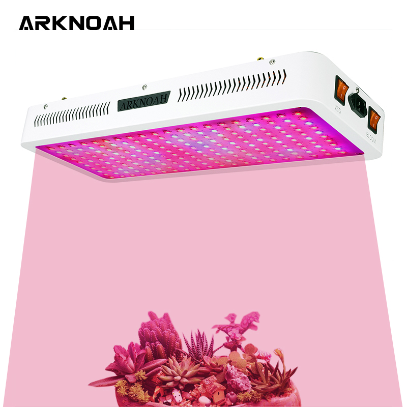 ARKNOAH 2000W LED Plant Grow Light With Thermometer Humidity Monitor And Adjustable Rope Full Spectrum Double Switch Plant Light