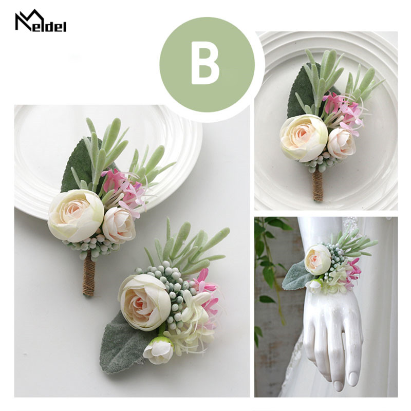 wedding accessories wrist corsage bracelet boutonniere (4)