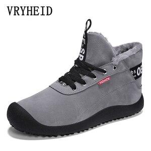 Image 5 - VRYHEID Big Size 39 48 New Winter Men Boots Waterproof Comfortable Snow Boots Fur Warm Ankle Shoes Men Footwear Male Lightweight