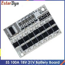 18V 21V 100A 5S BMS Li-ion LMO LiFePO4 Ternary Lithium Battery Protection Circuit Board Li-POLYMER Balance Charging Board Module