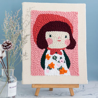 Punch needle DIY kit/Punch Needle Craft DIY Set /Girl Embroidery Stitching
