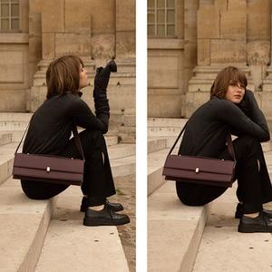 Image 2 - [Bxx] Pu Lederen Crossbody Tassen Voor Vrouwen 2020 Merk Designer Totes Lady Effen Kleur Schouder Tas Vrouwelijke handtas HJ030
