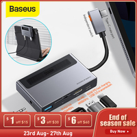 Baseus-concentrador de red USB tipo C a Multi USB 3,0, adaptador compatible con HDMI para tableta 6 en 1, tipo C, MacBook Pro y Huawei