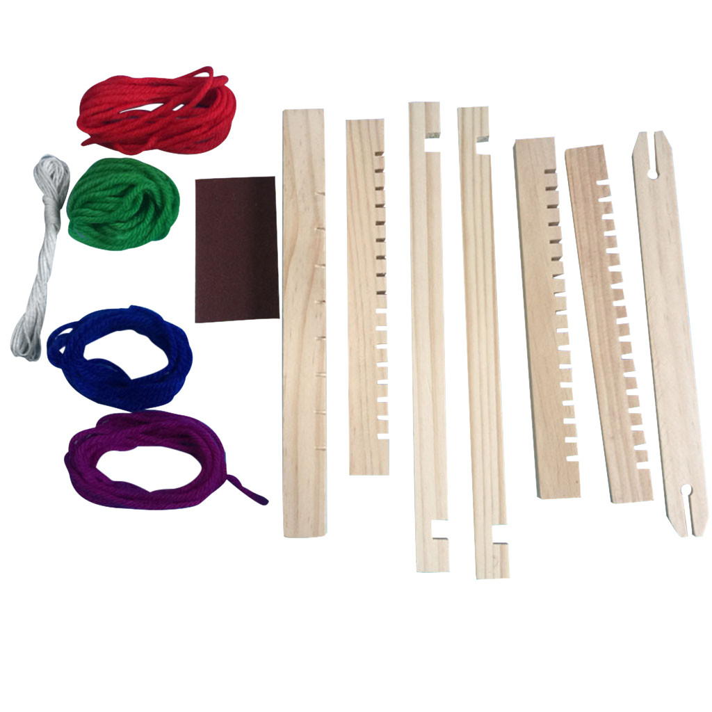 Wooden Weaving Craft Yarn DIY Hand Knitting Machine Kids Educational Toys  Home Children Mini Textile Machine Decoration Tools|Figurines & Miniatures|  - AliExpress