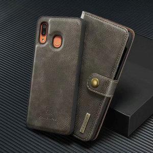 Image 2 - 2 w 1 pokrywa dla Samsung Galaxy A10 A20 A30 A40 A50 A70 A30S A50S etui z prawdziwej skóry odpinany etui flip wallet skóry książki A51 A71 torba