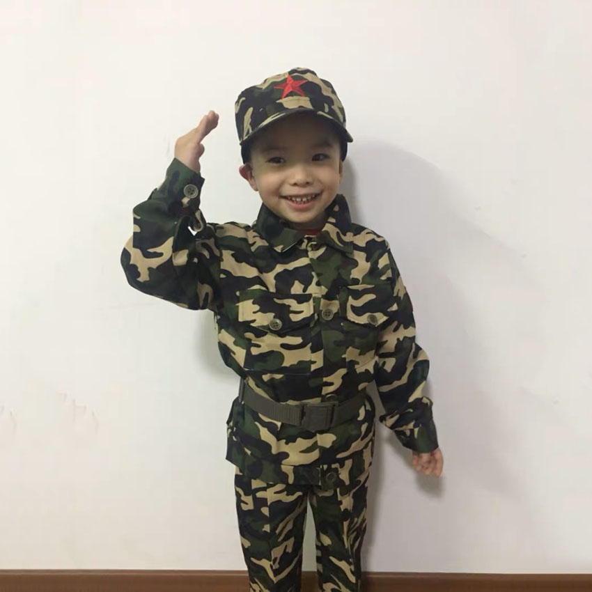 Military Uniform for Kids Training Suit Boy Special Force Combat Jacket Pants Set Army Camouflage Children Soldier Clothes image