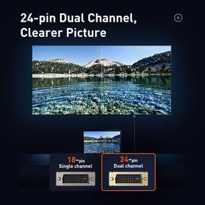 Image 5 - Baseus 24 + 1 Cable de vídeo Digital Dual Link macho a macho Cable DVI de conversión bidireccional para proyector, juegos, DVD, portátil, HDTV,PC