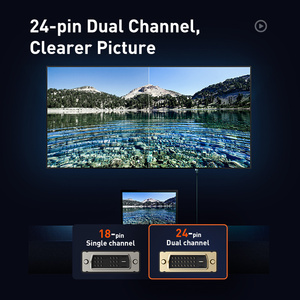 Image 5 - Baseus 24 + 1 קישור כפול זכר לזכר דיגיטלי וידאו שני בדרך כבל המרת DVI כבל עבור מקרן, משחקים, DVD, מחשב נייד, HDTV, מחשב