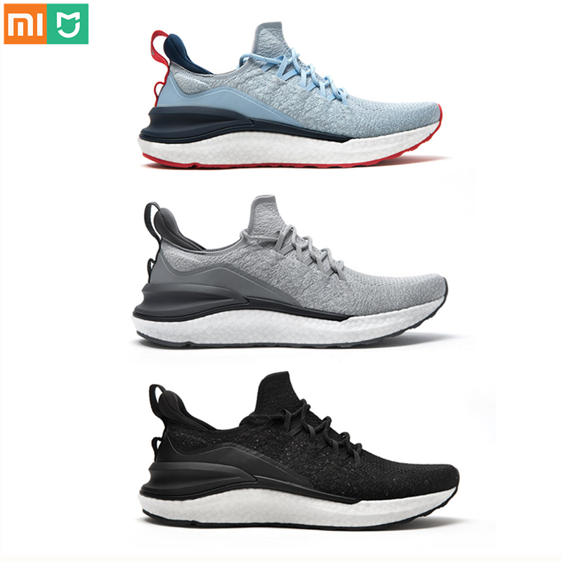 Xiaomi Mi Mijia Sports <font><b>Shoes</b></font> Sneaker 4 Outdoor Men Running Walking Lightweight Comfortable Breathable <font><b>4D</b></font> Fly Woven Upper image