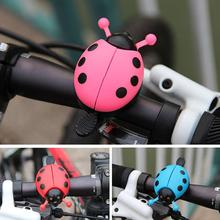 Bicycle Bell Ring Lovely Kid Beetle Mini Cartoon Ladybug Ring Bell For Cycling Bicycle Bike Bell Ride Horn Alarm недорого