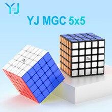 Yj mgc 5 cubo 5x5 magia magnética-cubo 62mm stickerless yongjun mgc5 5x5x5 ímãs cubos de velocidade do enigma brinquedos educativos para crianças