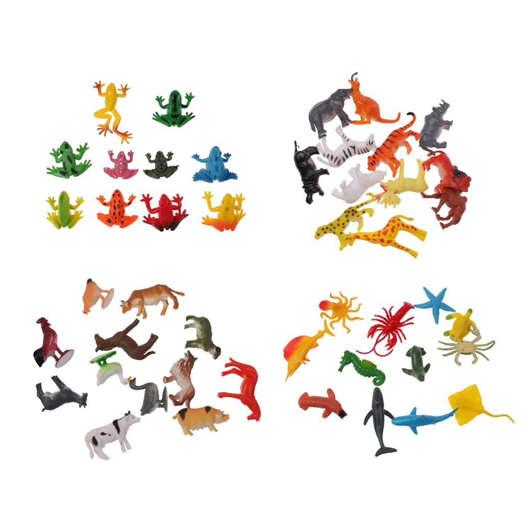 46 pacote plastico selvagem fazenda animais insetos 01
