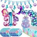 С рисунком «маленькая русалочка» вечерние поставки океан Русалка День рождения вечерние свадебные сувениры набор столовых приборов Сваде...