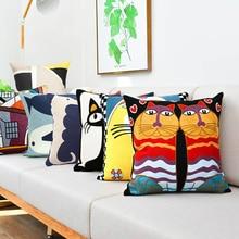 цена Hot Sale Embroidery Impressionist Pillowcase Cotton Canvas Cushion Cover European Decorative Pillowcase Style Sofa Cushion Cover онлайн в 2017 году