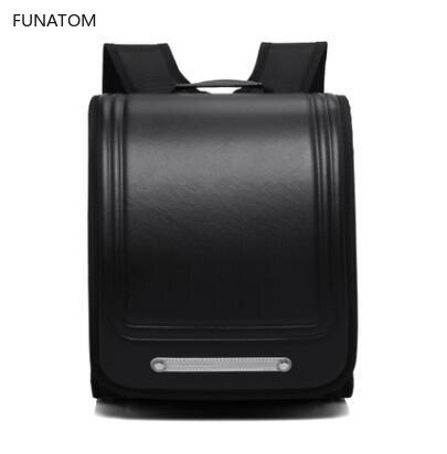 Brand 2019 New School Bags Orthopedic Backpack For Boys And Girls Waterproof PU Randoseru Backpack Japan Student Bag