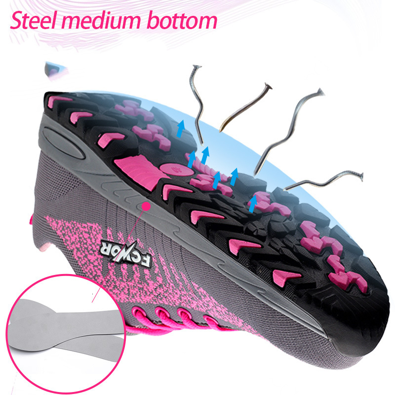 Image 4 - Steel Toe Work Women Work Boots Mesh Women Lightweight Breathable Outdoor Anti smashing Anti Piercing Construction Safety ShoesAnkle Boots   -