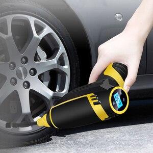 Image 1 - 디지털 LED 스마트 자동차 공기 압축기 펌프 휴대용 핸드 헬드 자동차 타이어 팽창기 전기 공기 펌프 150 PSI 수리 도구 액세서리