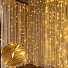 3*3M 300 Leds Fairy Lights Led Curtain String Garland Christmas with Controller For Home Outdoor/Indoor Decorative Xmas Party