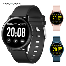 MAFAM KW19 Smart watch Women Heart rate monitor Multi-Languages IP67 Waterproof Men Sport Watch Fitness Tracker For Android IOS