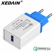 Universal QC3.0 USB Quick Charger US/EU Plug Fast USB Charger Cable Wall Mobile Phone Chargers For Android Samsung Huawei Xiaomi mobile phone chargers nobby nbe tc 30 01 quick fast accessories telecommunications usb