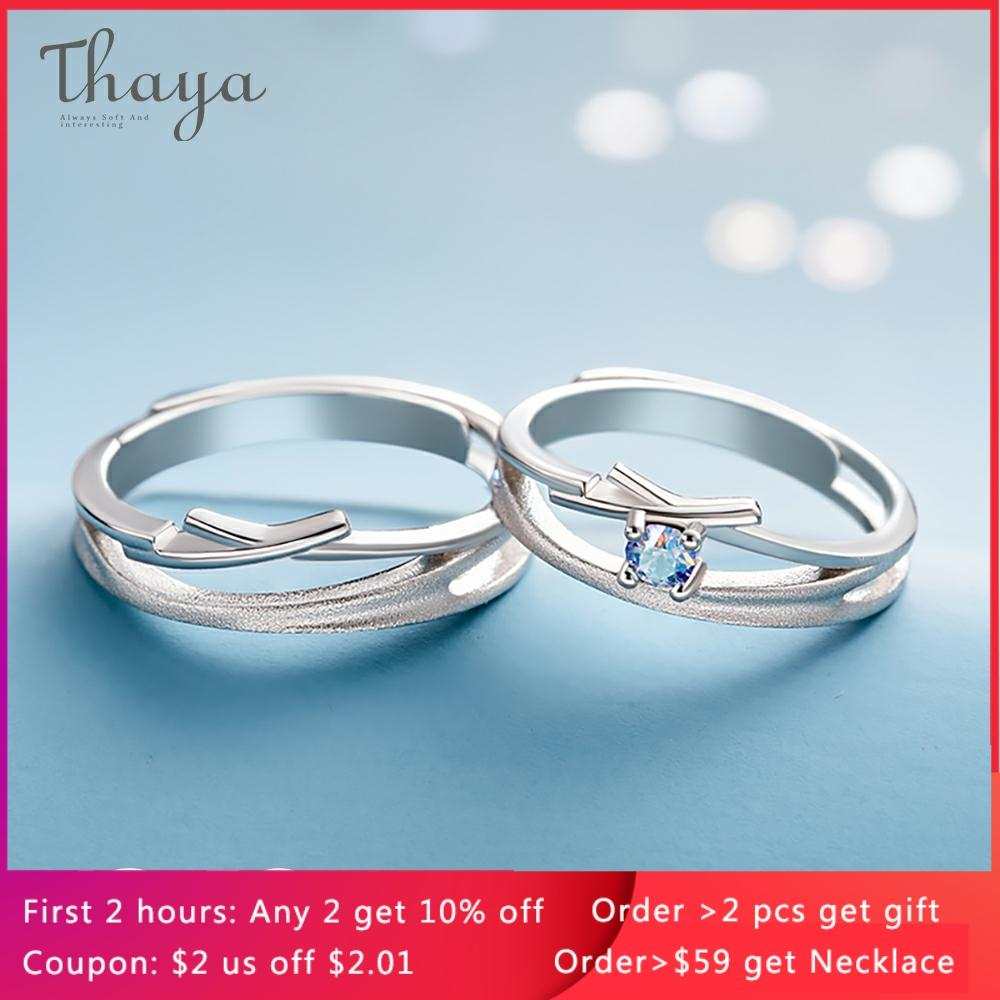 Thaya Hollow Out Zircon Wedding Design Rings S925 Sterling Silver High Quality Fantasy Jewelry Ring For Women Lovers Gift