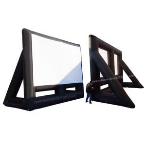 6mWx4. 7mH 20ft надувной киноэкран Портативный надувная пленка экран большой профессиональный открытый воздушный кинотеатр проекционный экран