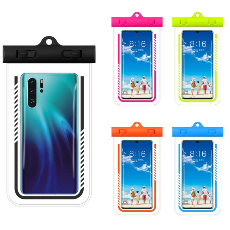 Sports Waterproof Phone Pouch Drift Diving Swimming Bag Dry Bag Case Covers For Phone Water Beach Pool Skiing 6.6 inch M