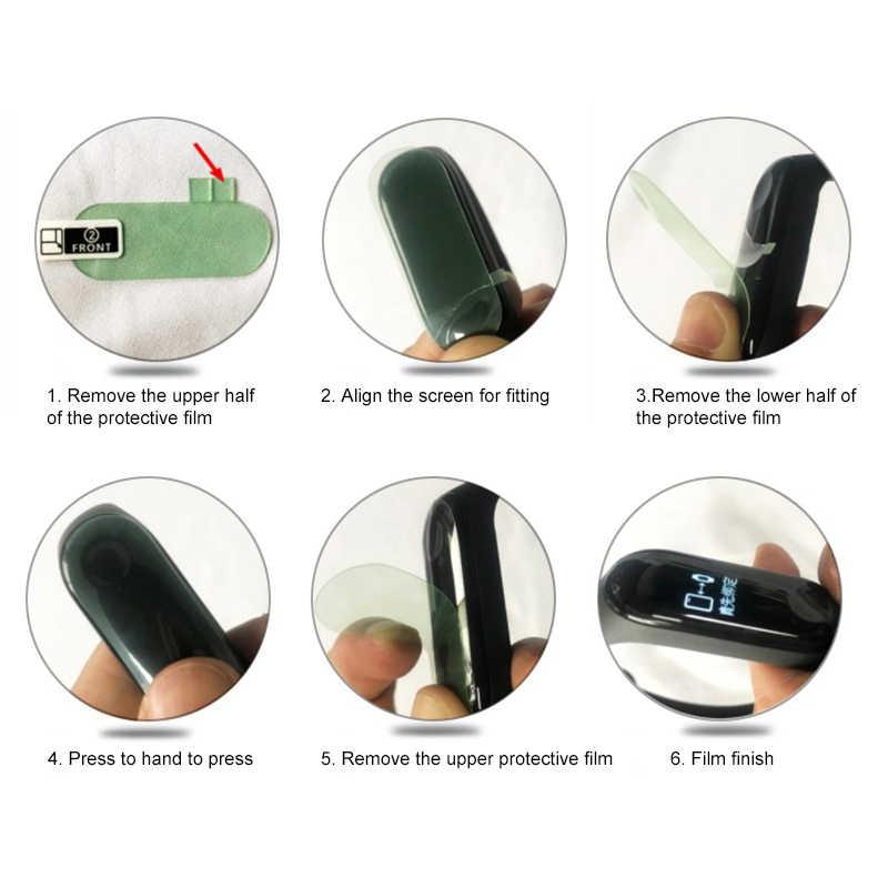 Film Nano perméabilité plein écran pour Xiao mi mi bande 4 protecteur d'écran Film vert doux pour mi bande 4 Bracelet intelligent accessoires