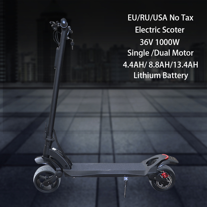 JS 36V Electric <font><b>Scooter</b></font> 500W <font><b>1000W</b></font> Dual Motors Fat Tire Wheel Adult Kick E <font><b>Scooter</b></font> Foldable Hoverboard Patinete Electrico Adulto image