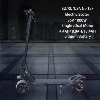 JS-Patinete eléctrico para Adulto, Scooter plegable de llanta ancha, 500W y 1000W, 36V