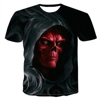 2021 Skull T Shirt Men Skeleton T-Shirt Punk Rock T-Shirt Gun T Shirts 3D Print T-Shirt Vintage Gothic Mens Clothing Summer Tops skull 3d printing horror skull t shirt cool cool t shirt gothic style punk t shirt retro t shirt 3dt shirt men