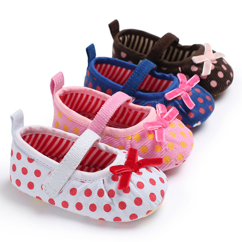 Cute Bows Baby Shoes Soft Sole Newborn Baby Girl First Walkers Shoes Non-Slip Toddler Infant Girls Shoes Schoenen Slofjes