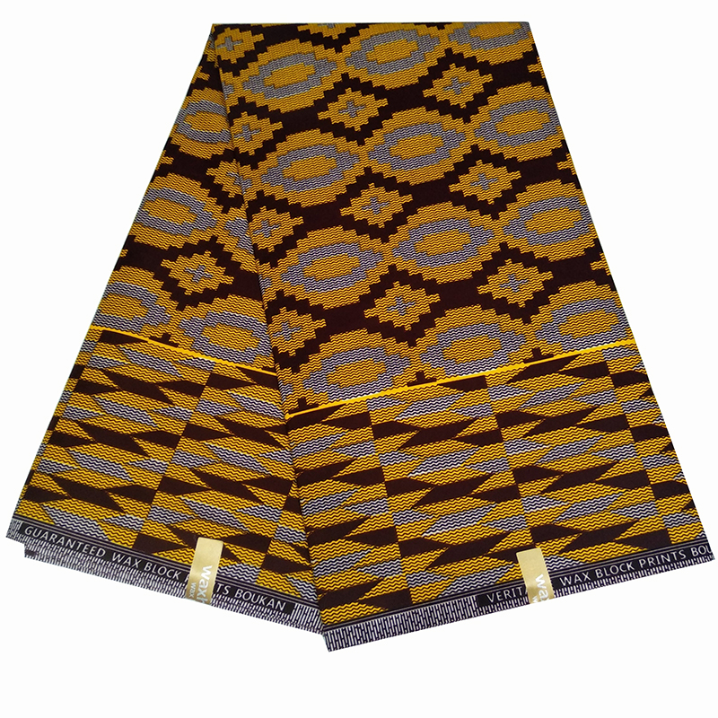 6Yard Nigerian 100% Cotton Batik Fabric Ankara African Lantern Printed Wax Fabric For Dress Making Z605