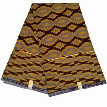 6Yard Nigerian 100% Cotton Batik Fabric Ankara African Lantern Printed Wax For Dress Making Z605