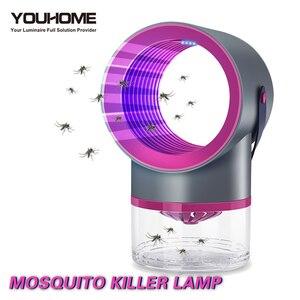 Image 1 - Светодиодная лампа для уничтожения комаров, УФ ночник, без шума, без излучения, USB, электрическая, для кухни, спальни, насекомых, мухи, ловушка