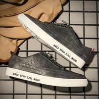 2019 Nuovo Arrivo di Estate Confortevole casual Scarpe Da Uomo Genuino Scarpe di cuoio Per Gli Uomini di Comfort Scarpe di Moda Piatto Mocassini Scarpe
