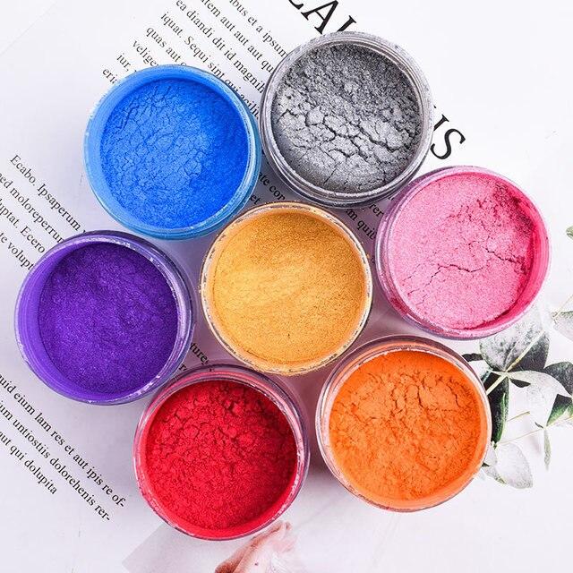 Pigmento perlado en polvo Ex para decoración de tartas, colores de la comida, 5g, pigmento perlado, polvo Mica, pigmento Rosa oro plateado brillante
