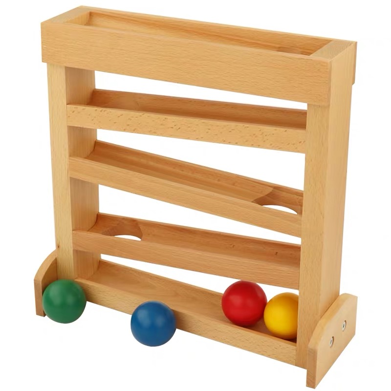 Ball Tracker Infant Early Development Toys Montessori Materials For 0-3 Years Old Visual Sense And Focus Exercises Wooden Toys