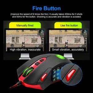Image 3 - Redragon אבדון M901 USB wired Gaming Mouse 24000DPI 19 כפתורים לתכנות משחק עכברים תאורה אחורית ארגונומי מחשב נייד מחשב מחשב