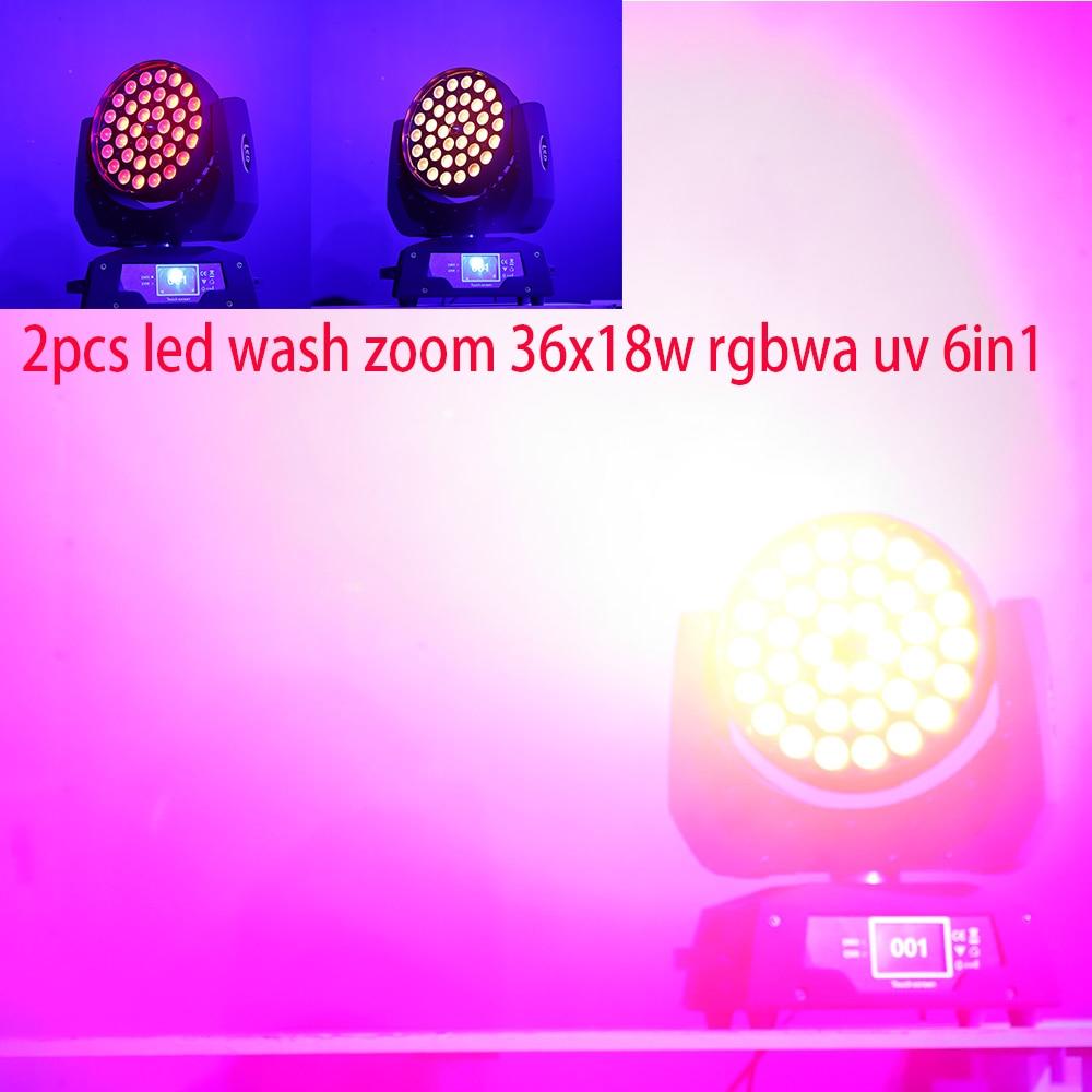 2 pcs lote 4 pcs lote led lavagem zoom 36x12w rgbw 4 em 1 ou