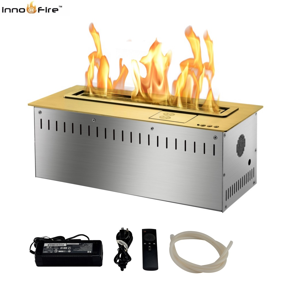 Hot Sale 18 Inches Silver Or Black Wifi Real Fire Intelligent Indoor Auto Fireplace Bio Ethanol