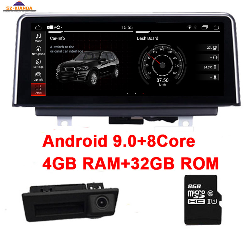 4GB RAM+32GB ROM 8 core <font><b>Android</b></font> 9.0 Car DVD Player for BMW X5 E70 X6 E71 GPS <font><b>Navigation</b></font> CIC CCC iDrive Steering wheel Control image