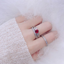 2019 Europe and the United States hot new three-piece combination ring Europe and America ladies couple ring set ring(China)