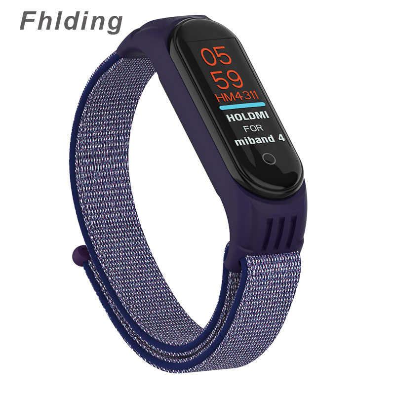 Cinturino in Nylon per Xiao mi mi fascia 4 3 Smart orologio Molle Della Cinghia Di Sport braccialetti Braccialetti Per mi fascia 4 NFC globale Braccialetto per Xiao mi mi 3 4